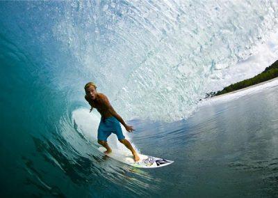 Nicaragua surfing.