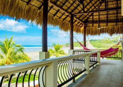 Beachfront Vacation Rental upper deck.