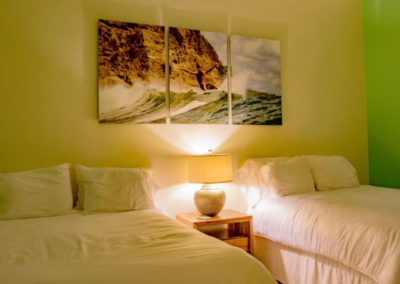 Beachfront Vacation Rental with two beds.
