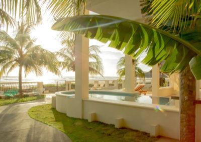 Beachfront Vacation Rental pool.
