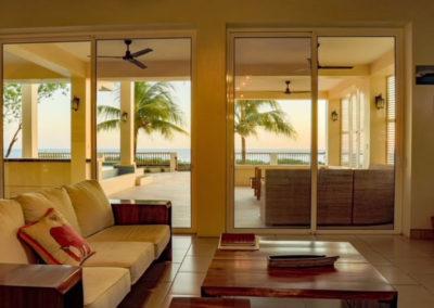 Beachfront Vacation Rental sitting area.